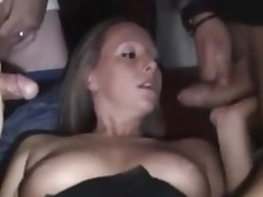 Bukkake Cum in mouth Cumshot Facial Gangbang