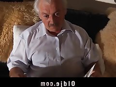 Blowjob Czech Old and Young Stockings
