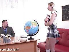 Blowjob, Hardcore, Russian, Teacher