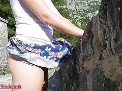 Amateur Upskirt Public Outdoor