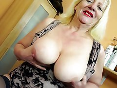 Big Boobs Granny Mature MILF Stockings