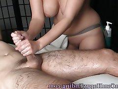 Big Boobs Handjob Massage Voyeur