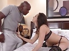 Blowjob Brunette Interracial Pornstar