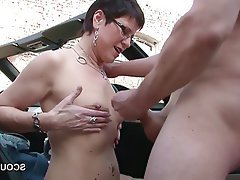 German Hardcore MILF Outdoor