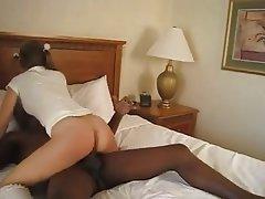 Blonde Creampie Interracial