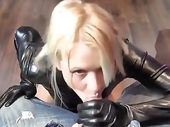 Blonde Blowjob Creampie Latex