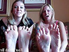 BDSM Femdom Foot Fetish Lesbian POV