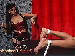 BDSM Femdom Mistress Spanking Stockings