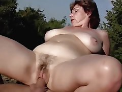Outdoor Old and Young Blowjob Cumshot