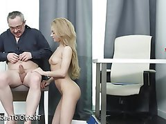 Blonde Blowjob Cum in mouth Hardcore Teacher