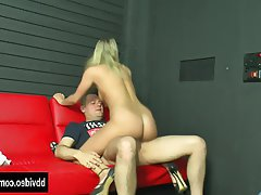 Blonde Blowjob Facial German