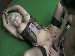 Big Boobs Blonde British Stockings