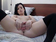 Amateur Brunette Masturbation Small Tits