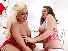 Big Boobs Blonde Brunette Lesbian Pornstar