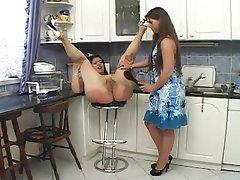 Big Butts Spanking Kitchen