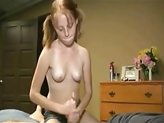 Cumshot Handjob Old and Young Skinny Small Tits