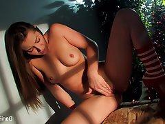 Babe Brunette Masturbation Pornstar Small Tits