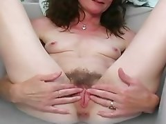 Granny, Mature, Wife, Rubbing, Pussy