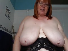 British BBW Big Boobs Mature