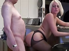 Blonde Lingerie Old and Young Whore