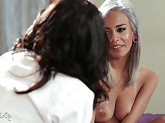Big Boobs Brunette Cunnilingus Lesbian Orgasm