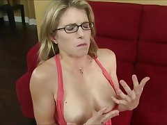 Blonde Cum in mouth MILF