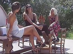 Cunnilingus Czech Lesbian Outdoor Threesome