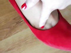 Foot Fetish Footjob High Heels MILF Pantyhose