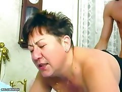 BBW, Granny, Mature, Old and Young, Saggy Tits