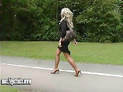 Blonde Foot Fetish High Heels MILF