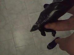 Italian Foot Fetish Latex Stockings Gloves