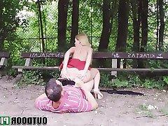 Amateur Babe Blonde Blowjob Outdoor