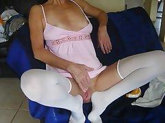 Lingerie Footjob Wife
