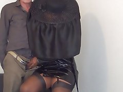 Femdom, Foot Fetish, Pantyhose, Mistress