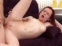 Anal Blowjob Facial Redhead Small Tits