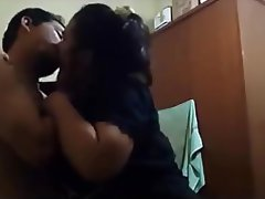 Asian Indonesian Kissing Couple