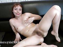 Hairy Masturbation Mature Redhead Russian