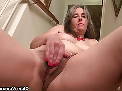 Mature Granny MILF Pantyhose Ass