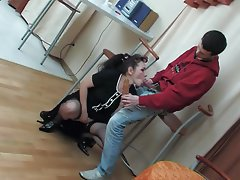 Old and Young Creampie Russian Stockings