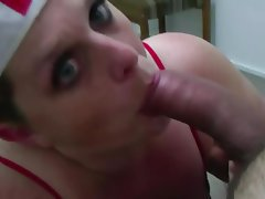 Amateur Big Boobs Blowjob POV