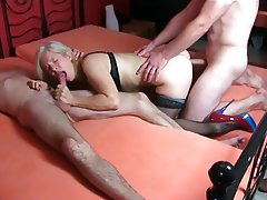 Anal Blonde German MILF Threesome