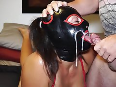 Amateur BDSM Cum in mouth Latex BDSM