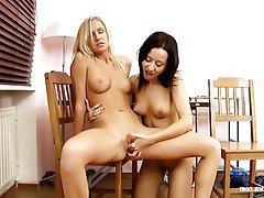 Lesbian Lingerie Oral