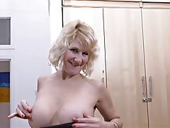 Blonde, British, Masturbation, Mature