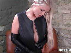 Big Boobs Blonde British Latex Masturbation