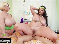 BBW, Big Boobs, Big Butts, MILF, Threesome