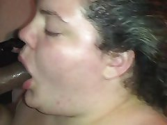 Amateur BBW Blowjob Interracial