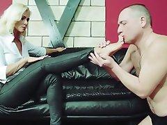 Blonde Foot Fetish Femdom Mistress BDSM