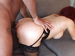 Big Black Cock, Blowjob, Interracial, MILF, Redhead