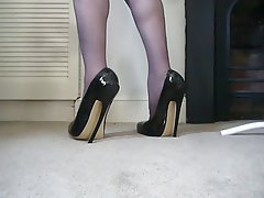 British Foot Fetish High Heels Latex